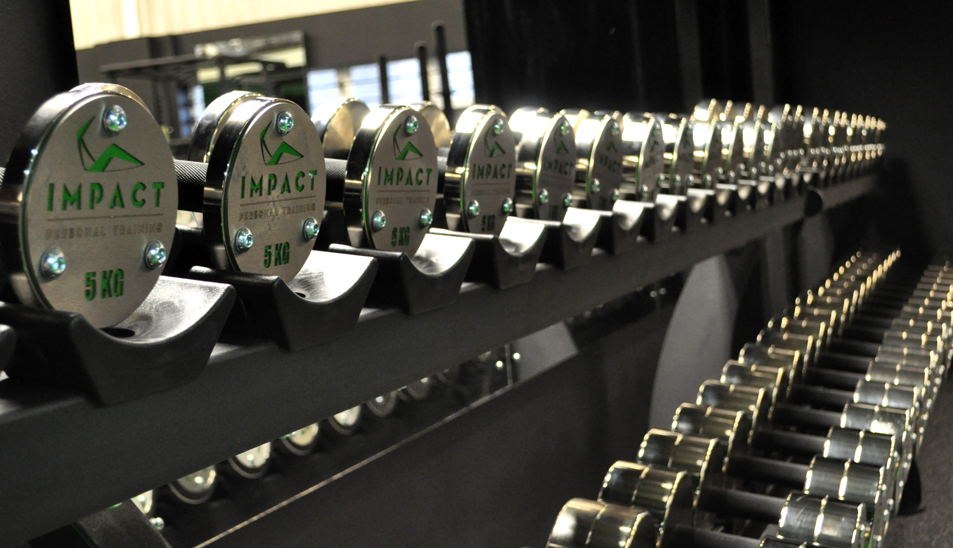M10 Fitness - Dumbbells in Front of Mirror