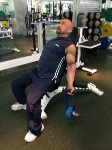 Charles Poliquin with B.D. Lever Curl Dumbbells